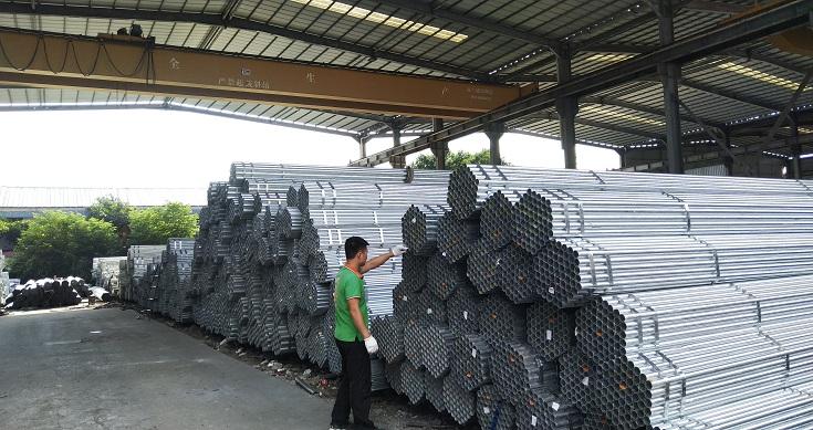 大棚建设钢管温室大棚骨架热镀锌钢管